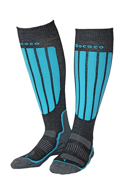 Compression Skiing Turquoise/Grey