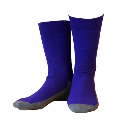 Wollsocken Basic Lila