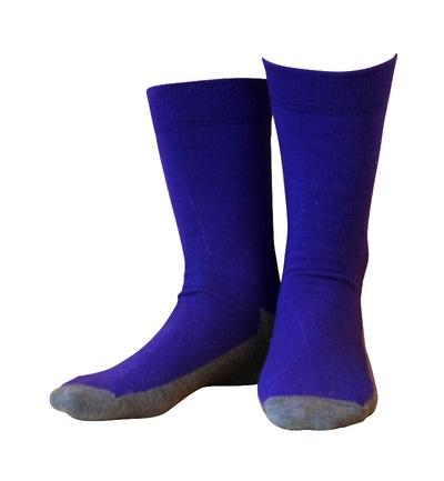 Wool socks Basic Purple