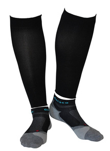 Compression Calf Sleeves und Light Sport Kit Schwarz