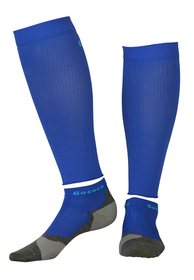 Compression Calf Sleeves and Light Sport Kit Electric Blue