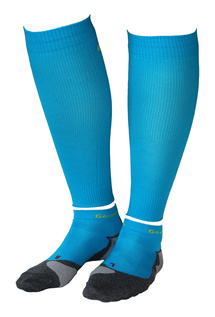 Compression Calf Sleeves und Light Sport Kit Türkis